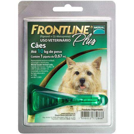 Antipulgas e Carrapatos Frontline Plus Boehringer para Cães Até 10kg