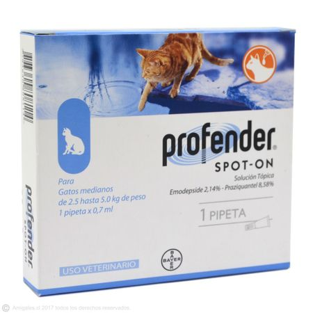 Vermífugo Profender Spot On Bayer Para Gatos de 2.5kg a 5kg