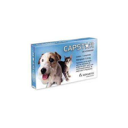 Antipulgas Novartis Capstar 11 mg Para Cães e Gatos Até 11 Kg 1 Comprimido