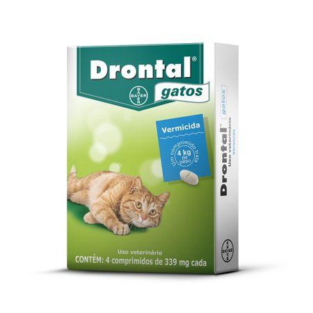 Vermífugo Drontal Bayer para Gatos de até 4kg 4 Comprimidos