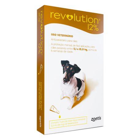 Antipulgas e Carrapatos Zoetis Revolution 12% para Cães de 5,1 a 10 Kg