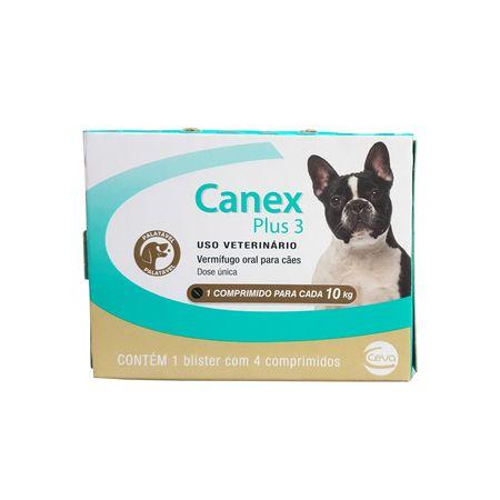 Vermífugo Ceva Canex Plus 3 para Cães 4 Comprimidos