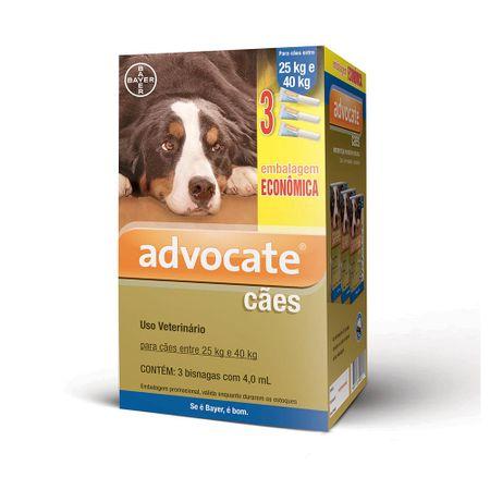 Antipulgas Bayer Advocate Combo para Cães de 25 a 40kg