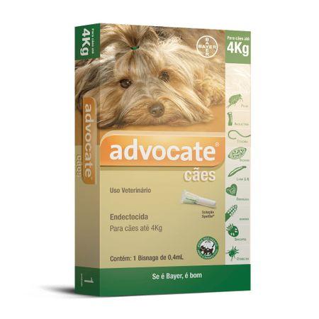 Antipulgas Bayer Advocate para Cães ate 4 Kg
