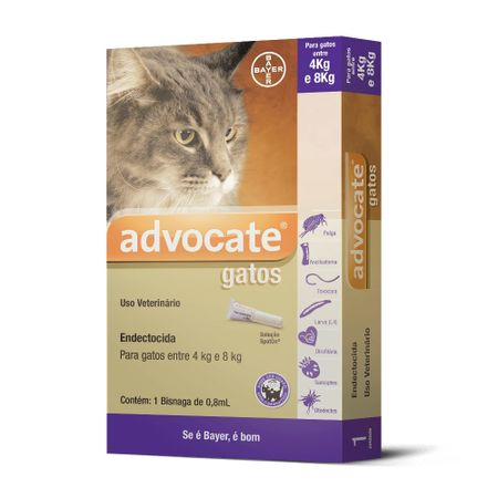 Antipulgas Bayer Advocate para Gatos 4 a 8 Kg