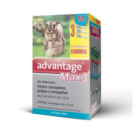 Antipulgas e Carrapatos Bayer Advantage MAX3 para Cães de 4 a 10 Kg Combo