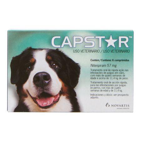 Antipulgas Novartis Capstar 57 mg Para Cães De 11 a 57 Kg 6 Comprimidos