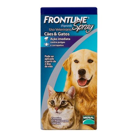 Antipulgas Frontline Spray para Cães e Gatos de 100 mL