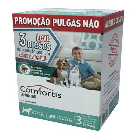 Kit com 3 Antipulgas Comfortis Elanco 560 mg para Cães e Gatos