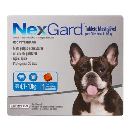 Antipulgas e Carrapatos Merial Nexgard para Cães de 4,1 a 10Kg