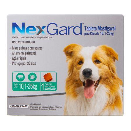 Antipulgas e Carrapatos Merial Nexgard para Cães de 10,1 a 25Kg
