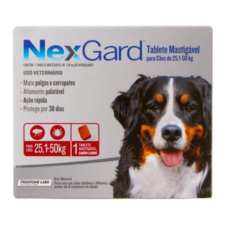Antipulgas e Carrapatos Merial Nexgard para Cães de 25,1 a 50Kg