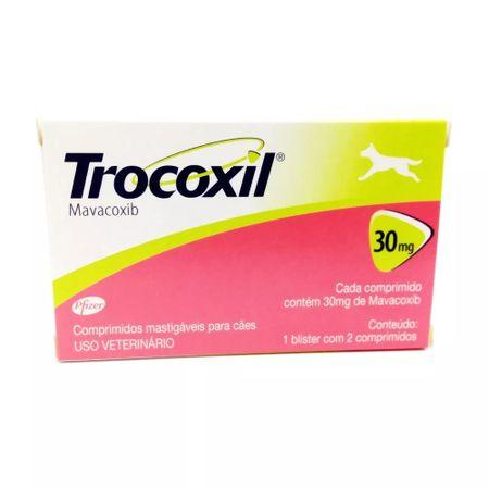 Anti-inflamatório Trocoxil Zoetis 30mg 2 Comprimidos