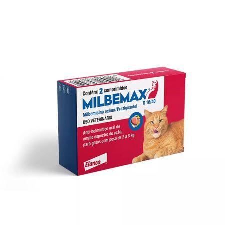 Vermífugo Milbemax G Para Gatos de 2kg a 8kg - 2 comprimidos
