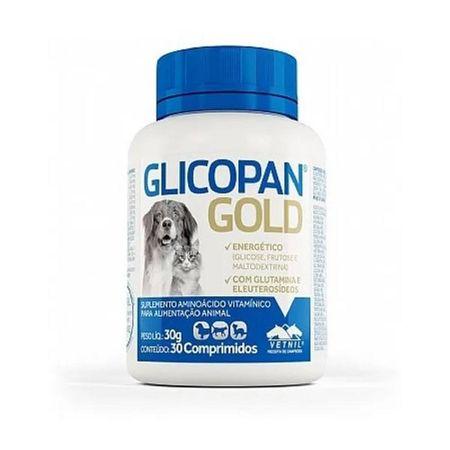 Glicopan Gold Para Cães Vetnil 30 Comprimidos