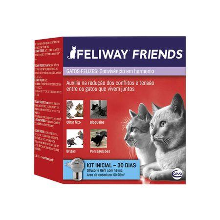 Feliway Friends Ceva Difusor Elétrico Com Refil 48 ml