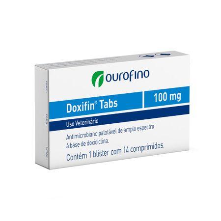Antibiótico Doxifin Tabs Ourofino para Cães e Gatos