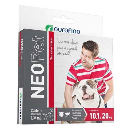 Antipulgas e Carrapatos para Cães NeoPet 10,1 a 20kg 1 Flaconete