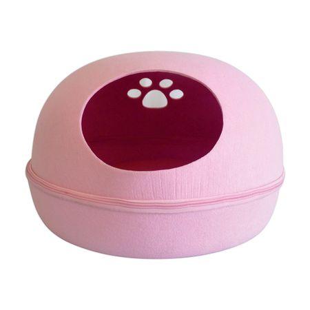 Toca de gato modelo redonda PetLon - Rosa
