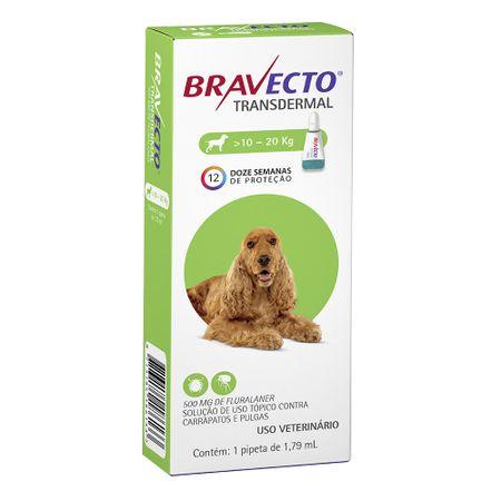 Antipulgas e Carrapatos MSD Bravecto Transdermal para Cães de 10 a 20Kg