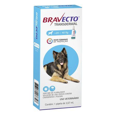 Antipulgas e Carrapatos MSD Bravecto Transdermal para Cães de 20 a 40Kg