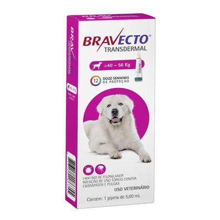 Antipulgas e Carrapatos MSD Bravecto Transdermal para Cães de 40 a 56Kg