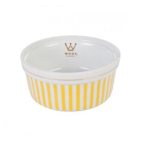 Comedouro Woof Classic Listrado Amarelo