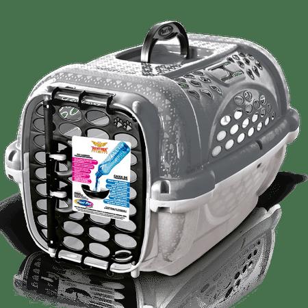 Caixa de Transporte Para Cães e Gatos Panther - Cinza