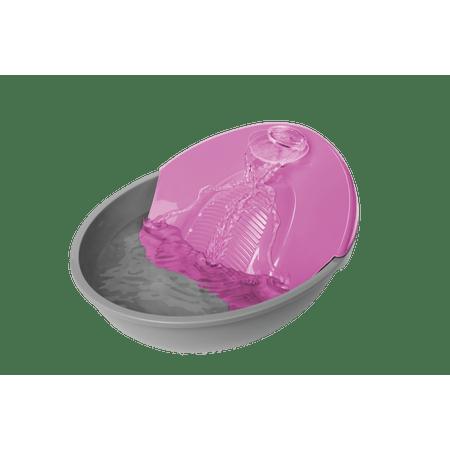 Bebedouro Fonte Para Cães e Gatos Petit Plast Pet - Rosa