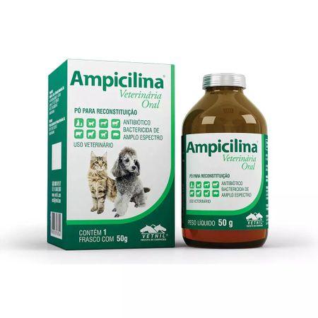 Antibiótico Oral para Cães e Gatos Ampicilina Vetnil 50g