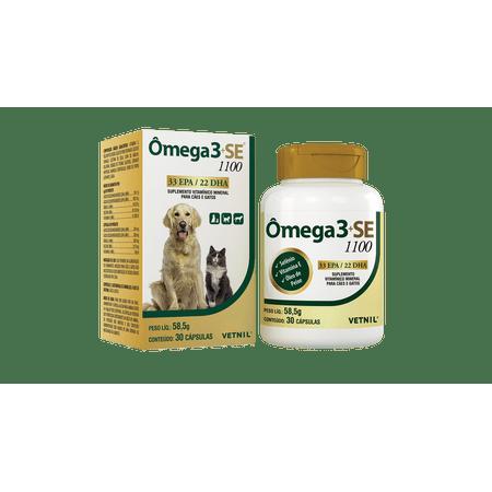 Suplemento Vitamínico e Mineral para Cães e Gatos Omega 3 SE 1100 Vetnil 30...