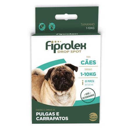 Antipulgas e Carrapatos Ceva Fiprolex Drop Spot para Cães de 1kg a 10kg