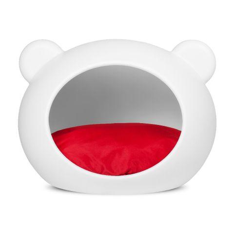 casa-guisa-dog-cave-media-para-caes-branca-com-almofada-vermelha-7898946935912-pet-luni
