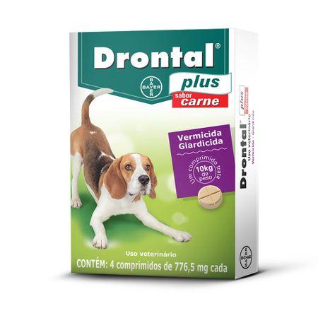 Vermífugo Drontal Plus para Cães de 10 kg Sabor Carne 4 Comprimidos