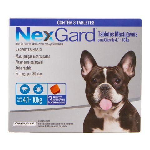 Antipulgas-e-Carrapatos-Merial-Nexgard-para-Caes-de-41-a-10Kg-com-3-Tabletes-7898053774404-pet-luni