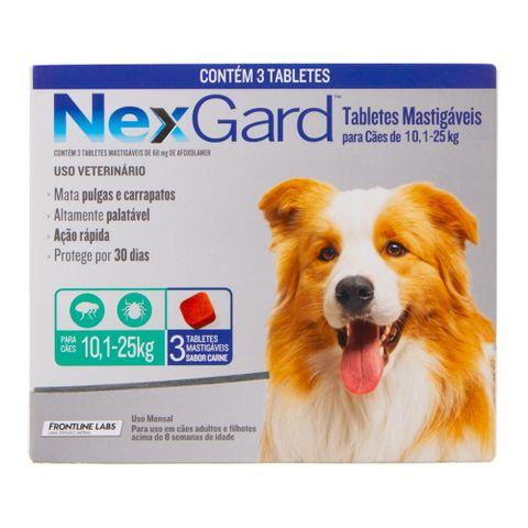 Antipulgas-e-Carrapatos-Merial-Nexgard-para-Caes-de-101-a-25Kg-com-3-Tabletes-7898053774497-pet-luni