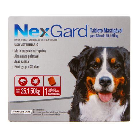 Antipulgas-e-Carrapatos-Merial-Nexgard-para-Caes-de-251-a-50Kg-com-1-Tablete-7898053774527-pet-luni