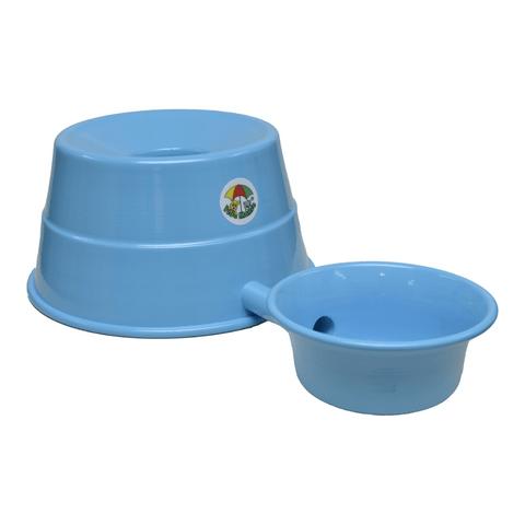 Bebedouro-para-Raþas-Grandes-em-Aluminio-Vida-Mansa-Azul-Bebe