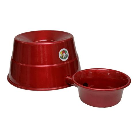 Bebedouro-para-Raþas-Grandes-em-Aluminio-Vida-Mansa-Vermelho