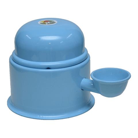 Bebedouro-para-Caes-em-Aluminio-Vida-Mansa-Azul-Bebe-0-7L
