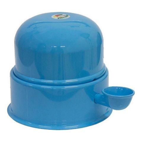 Bebedouro-para-Caes-em-Aluminio-Vida-Mansa-Azul-Bebe-3L
