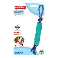 Brinquedo-para-Cachorros-ate-15kg-Odontopet-Tubo-com-Corda-Verde-pet-luni