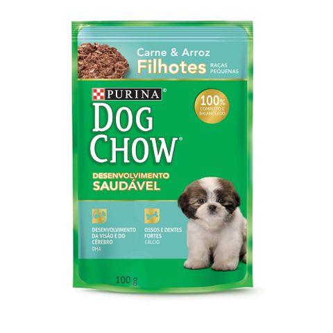 Sache-DOG-CHOW-Carne-e-Arroz-Para-Caes-Filhotes-Racas-Pequenas-100g-7891000244401-pet-luni