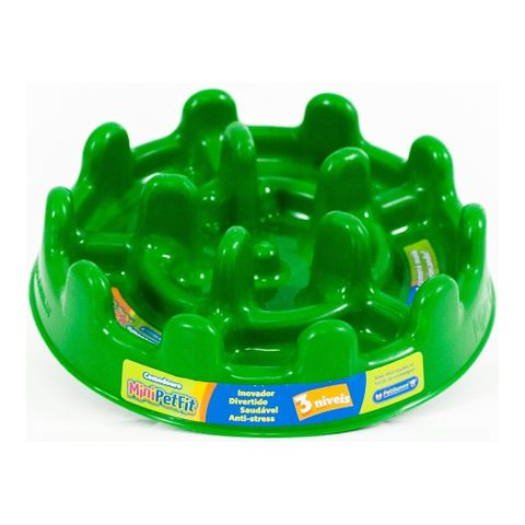 Comedouro-Lento-para-Caes-e-Gatos-Pet-Games-Mini-Fit-20cm-Verde-7898947774817-pet-luni