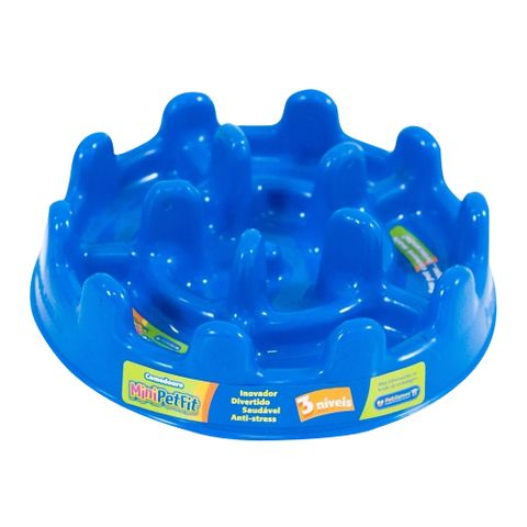 Comedouro-Lento-para-Caes-e-Gatos-Pet-Games-Mini-Fit-20cm-Azul-7898947774800-pet-luni
