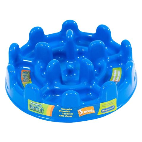 Comedouro-Lento-para-Caes-Pet-Games-Fit-27cm-Azul-7898947774176-pet-luni