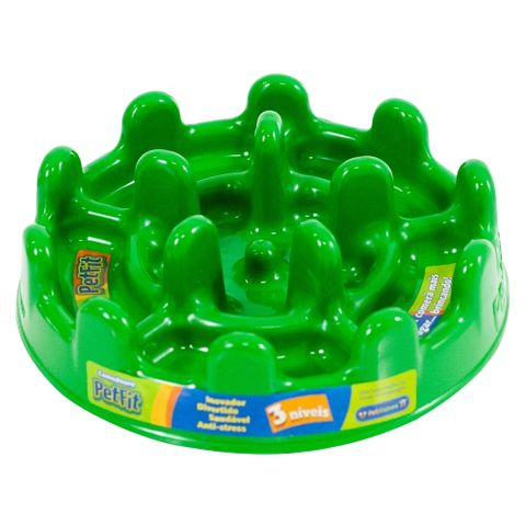 Comedouro-Lento-para-Caes-Pet-Games-Fit-27cm-Verde-7898947774190-pet-luni