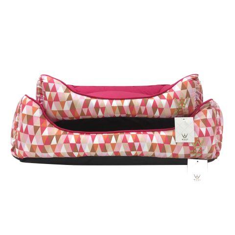 caminha-retangular-woof-triangulos-rosa-frente