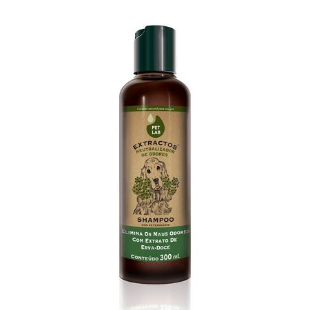 Shampoo Neutralizador de Odores para Cães Erva Doce Pet Lab Extractos